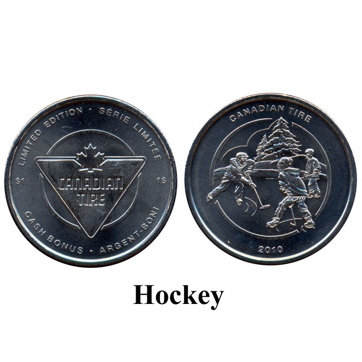 CTC $1.00 Hockey Coin  -  UNC