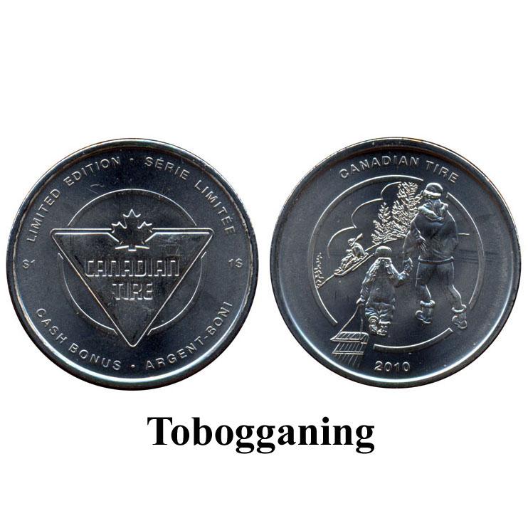 CTC $1.00 Tobogganing Coin  -  UNC