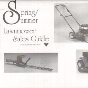 1996 S&S Lawnmower Sales Guide