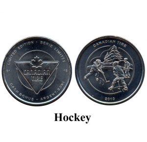 CTC $1.00 Hockey Coin  -  UNC