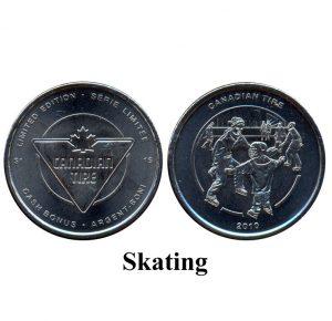 CTC $1.00 Skating Coin  -  UNC