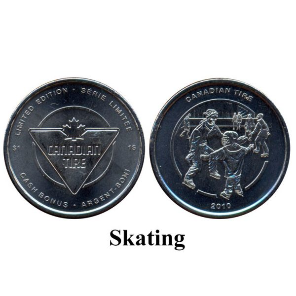CTC $1.00 Skating Coin  –  UNC