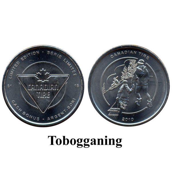 CTC $1.00 Tobogganing Coin  –  UNC