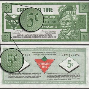 CTC S30-B09 - UNC - Missing ink on Denominations