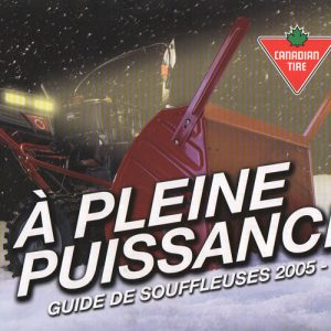 2005 Power UP Snowblowers Catalogue