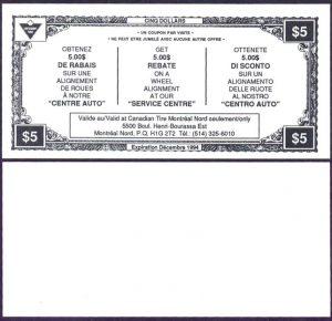 Five dollar alignment rebate - Trilingual  -  UNC