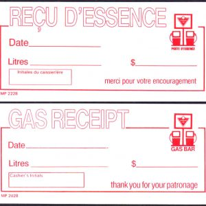 Gas Bar Receipt - Bilingual  -  UNC